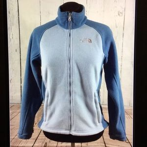 North face fleece blue jacket size small